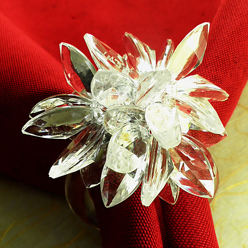 Кристалл Лотос Свадьба Салфетка Кольцо набор из 12, акриловые Dia 4.5cm Lightinthebox 665.000