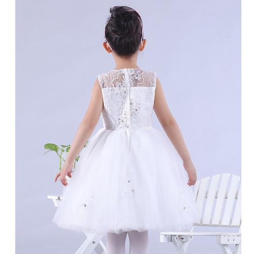 Онлайн Бато длиной до колен атласные и кружевные платья девушки цветка Lightinthebox 2148.000