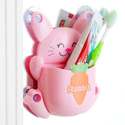 Творческий мультфильм милый кролик зубная щетка хранения Полка - 3 цвета Имеющиеся Lightinthebox 450.000
