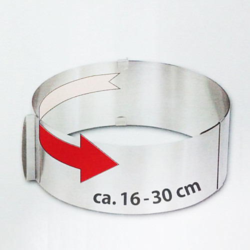 Выдвижной Круг торт кольцо, нержавеющая сталь Диаметр :16-30см Высота: 8.5cm Lightinthebox 429.000