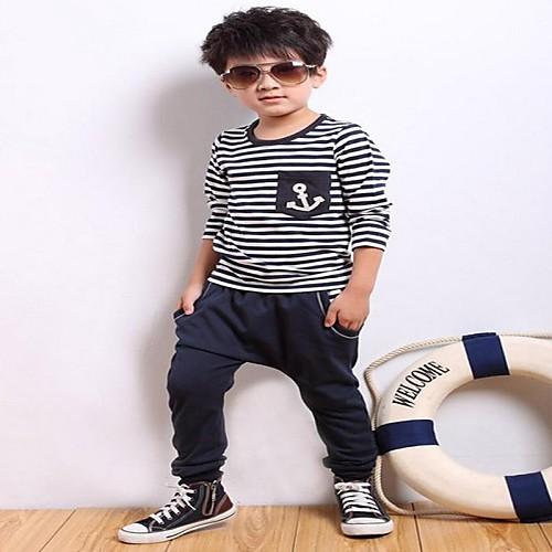 Мальчика Газа Якорь футболка с длинным рукавом  Гарем Пант Lightinthebox 1503.000