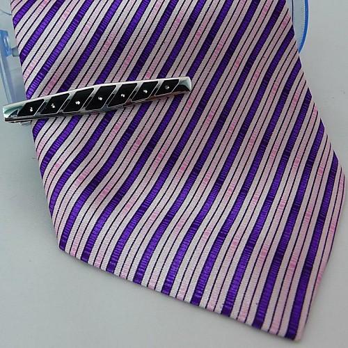 Серебристый металлический подарки Мужская выгравированы кристалл зажим для галстука Lightinthebox 558.000