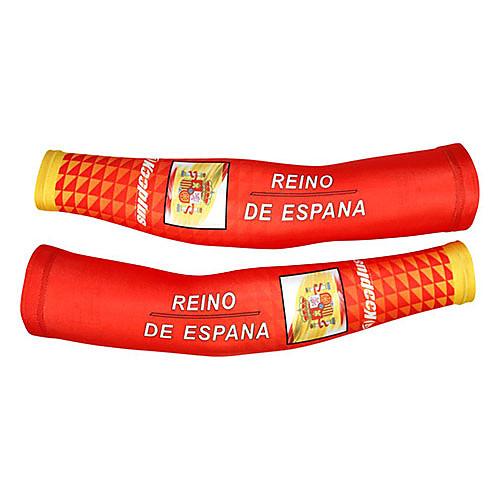 KOOPLUS - сборной Испании полиэстер  лайкра красный  желтый Велоспорт нарукавник Lightinthebox 858.000