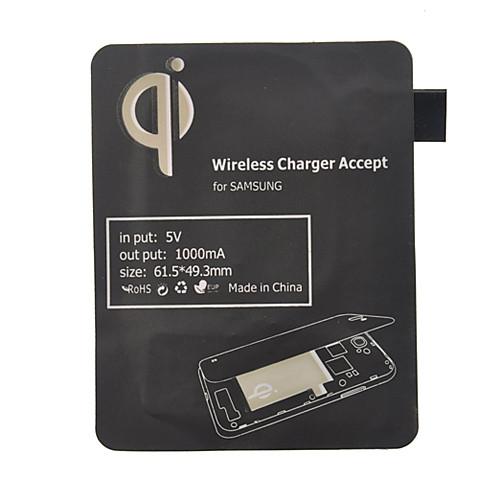 Черный Ци Стандартный беспроводной зарядки приемника Pad для Samsung Galaxy S3 i9300