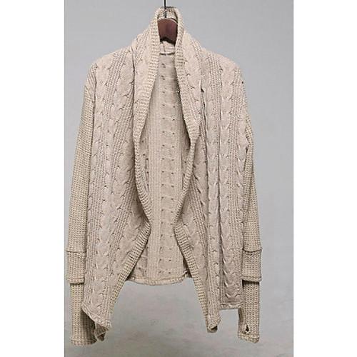 Мужская Широкий воротник Модные длинным рукавом с перчатки вязать свитер Lightinthebox 1563.000