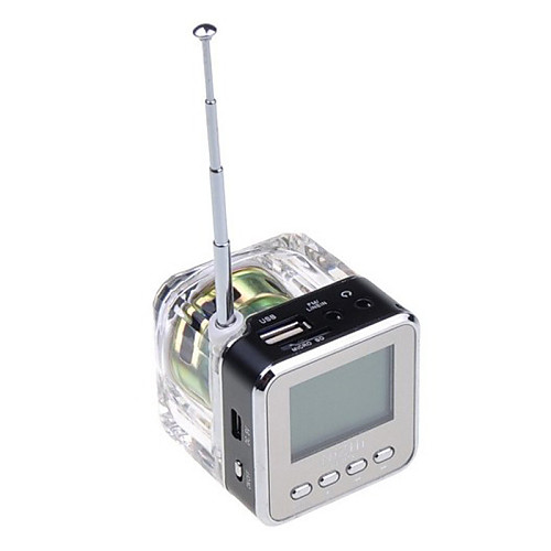 NiZHi TT-028 портативный Micro SD / TF мини-динамик музыку mp3 / 4 плеер USB диск FM-радио Lightinthebox 773.000