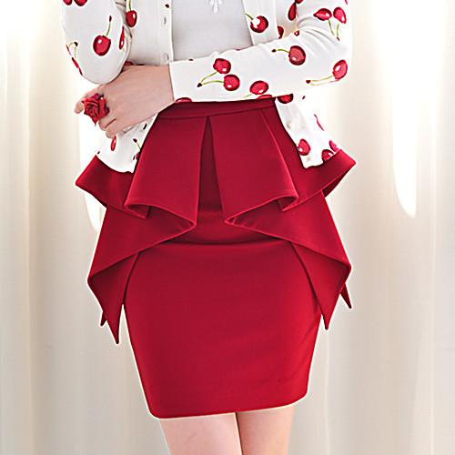 DABUWAWA Асимметричный Качели высокой талией Юбка (Вино) Lightinthebox 3149.000