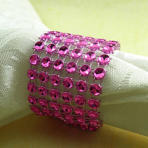 Кристалл Салфетка Кольцо Набор 6, акриловые Dia 4.5cm Lightinthebox 558.000