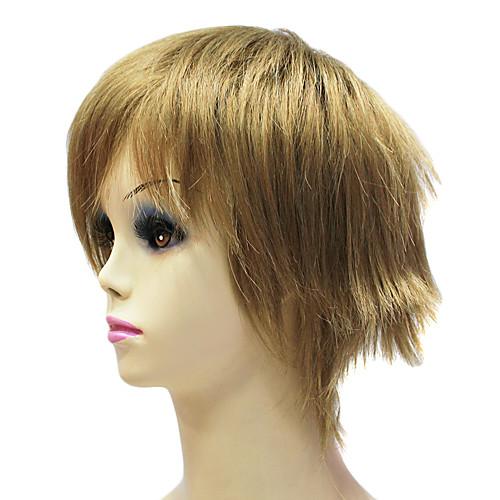 Темно-русый короткий прямой монолитным синтетический парик Lightinthebox 1073.000