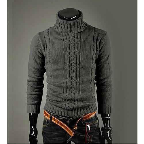 Мужская корейский стиль Slim Fit Высокий воротник Черепаха шею свитер Lightinthebox 1675.000