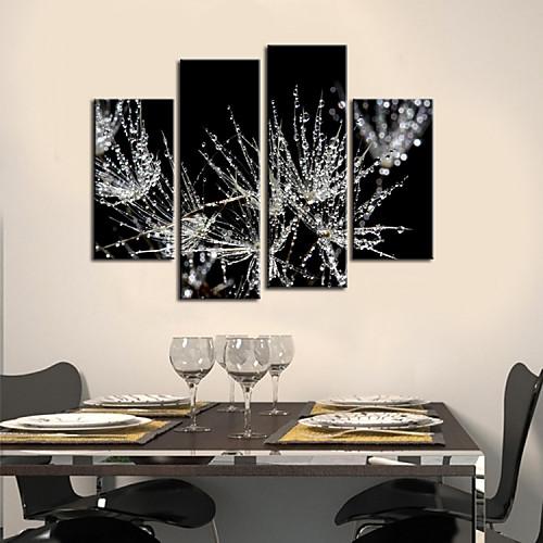 Натяжные Печать холст Art Ботанический матовое листья Набор из 4 Lightinthebox 3866.000