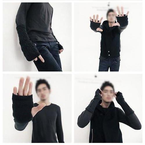 Мужская Женская Варежки пальцев Длинный Теплые вязаные перчатки Lightinthebox 257.000
