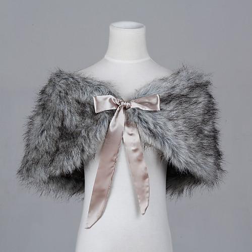 Красивый искусственный мех Вечер / Свадьба шаль Lightinthebox 1073.000