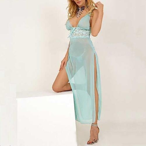 Baby Blue Кружева шифоновое платье Sexy Women Ночное Lightinthebox 644.000