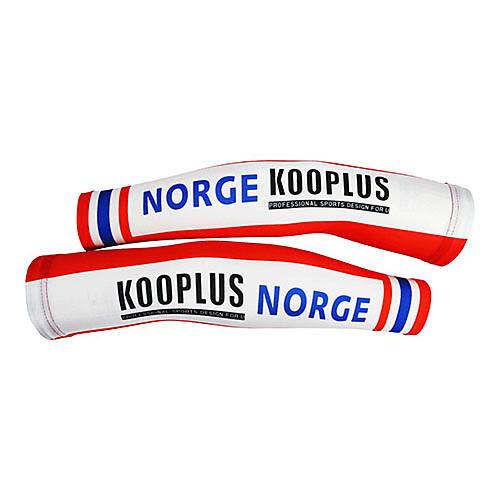 KOOPLUS - Норвежский Национальная сборная полиэстер  лайкра красный  синий Велоспорт нарукавник Lightinthebox 858.000