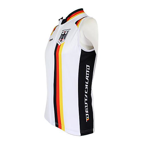 Kooplus2013 Чемпионат Джерси немецкий 100% полиэстер Wicking Волокна рукавов жилета Велоспорт отражающей лентой Lightinthebox 1288.000