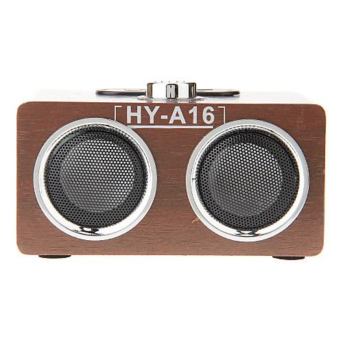 Деревянный мини стерео Музыкальный USB MP3-плеер динамиком Карточка TF поддержки FM-радио (HY-A16) Lightinthebox 1073.000