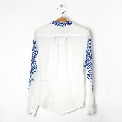 Блузка женская шифоновая в стиле гжель Lightinthebox 1033.000