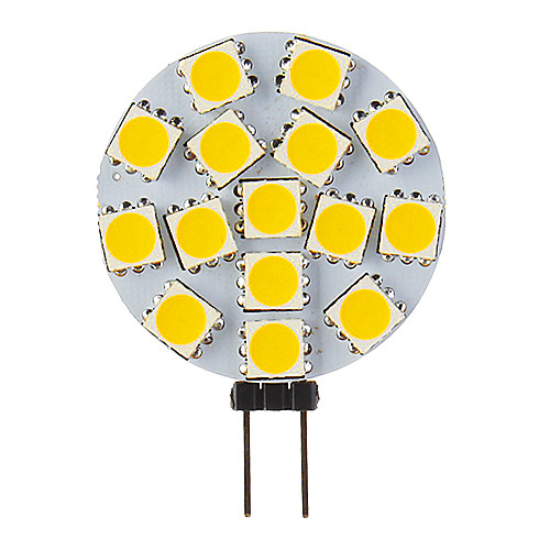 G4 GU4 MR11 4,5 Вт 15x5060SMD 250-280LM 2800-3200K теплый белый свет Светодиодные пятно света (9-36V) Lightinthebox 300.000