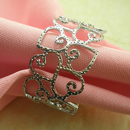 Сердце Обручальное кольцо Салфетка Набор из 6, Металл Dia 4.5cm Lightinthebox 773.000