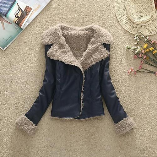 Куртка женская короткая из кожзама Lightinthebox 1804.000