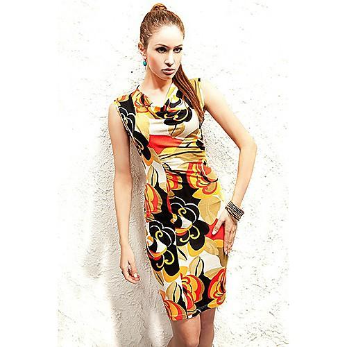Женская Элегантный Печать мини-платье Lightinthebox 530.000