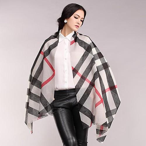 Женская 100% шерсть Классический плед шаль Lightinthebox 1417.000
