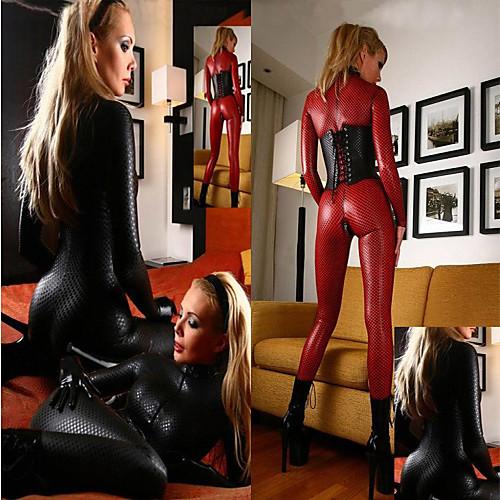 Spiderwoman черный ПВХ Женская белья Sexy Униформа Lightinthebox 751.000