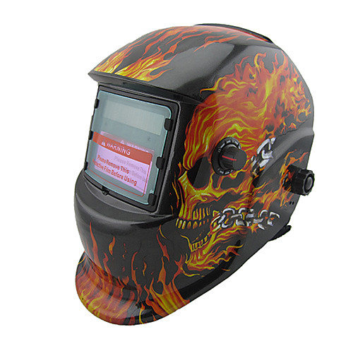 сварочный шлем 7-12 пламя черепа