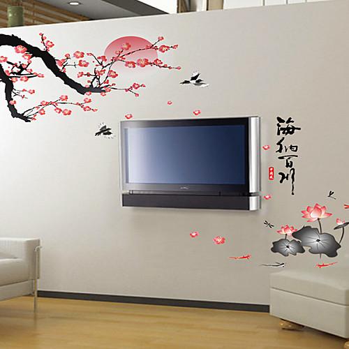 Большой DIY Пейзаж Весна стены стикеры Lightinthebox 858.000