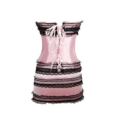 Сексуальная качества атласная корсет Набор Соответствующие Юбка Стринги Басков Корсеты Lightinthebox 1340.000
