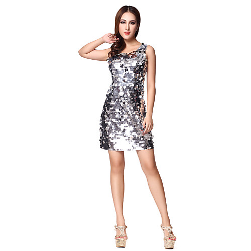 Танцевальная одежда Женская Зрелые Геометрическая блестками Полиамид рукавов Танцы платье (больше цветов) Lightinthebox 583.000