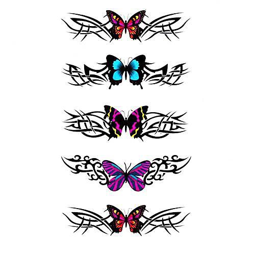 5 шт Бабочка Водонепроницаемый Временные татуировки (10.5cm  20.5cm) HM322 Lightinthebox 429.000