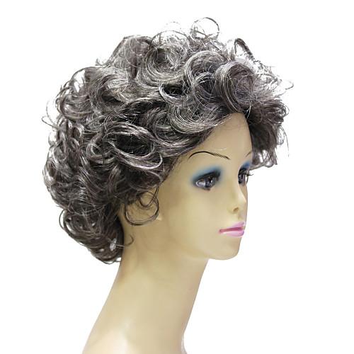 Монолитным высокого качества синтетического Janpanese Kanekalon Короткие Смешанные завитые парик волос Цвет Lightinthebox 1546.000