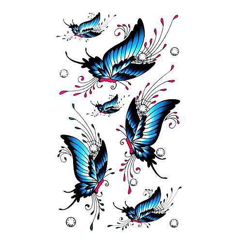 5 шт Бабочка Водонепроницаемый Временные татуировки (10.5cm  20.5cm) HM410 Lightinthebox 429.000