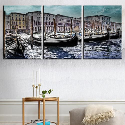 Натяжные холсте ландшафт Вода Город Венеция Набор из 3 Lightinthebox 3007.000
