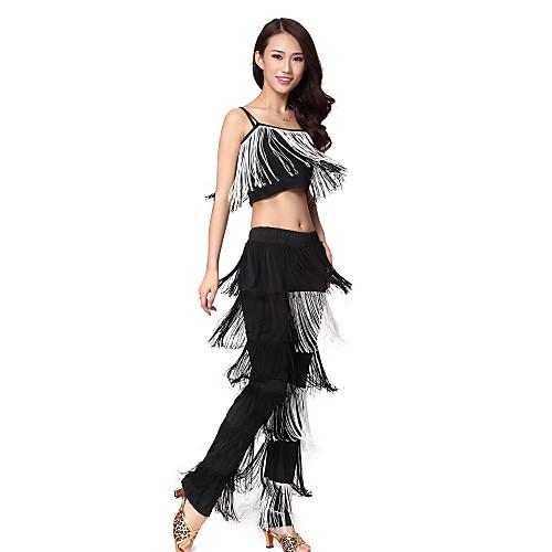 Танцевальная одежда Женские полиэстер Tassels Танцы наряды (Топ & Bottom)