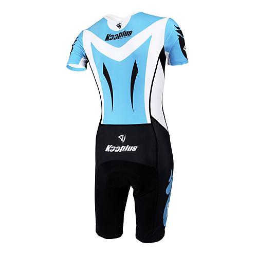 KOOPLUS - Триатлон Ocean Blue  черный коротким рукавом носить и шорты сиамских задействуя одежда Lightinthebox 3222.000