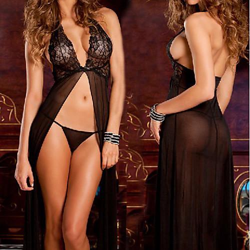 Рене Рофе Черное кружево Вечернее платье Стиль Женская белья Sexy Униформа Lightinthebox 515.000