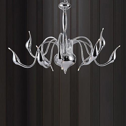 Лебедь Дизайн Люстра, 9 Свет, Творческая Золотой гальванических Металл Lightinthebox 10742.000