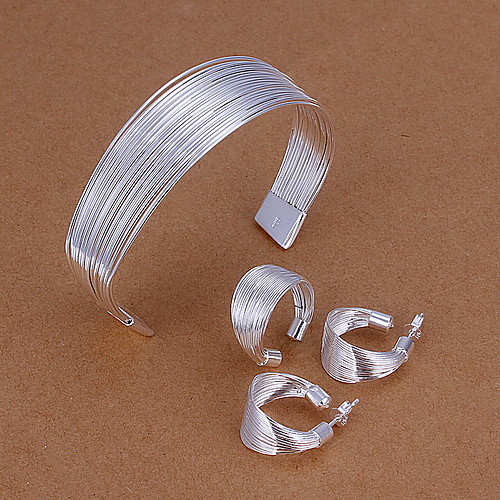 Модные латуни и серебра Позолоченное серебро Женская Регулируемый комплект ювелирных изделий (в том числе ожерелья, кольца) Lightinthebox 495.000