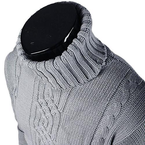 Мужская мода Slim Fit Черепаха шею свитер Lightinthebox 730.000