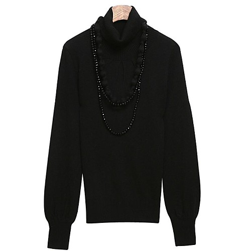 Женская Высокий воротник фонарь рукав пуловер свитер Lightinthebox 781.000