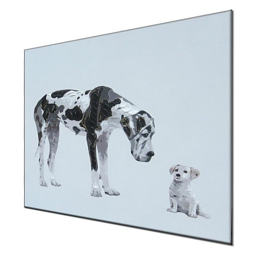 Ручная роспись маслом Animal Friends Lightinthebox 3995.000