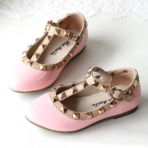 Плоский каблук Мэри Джейн Квартиры обувь лакированная кожа девушки С Риве (больше цветов) Lightinthebox 773.000