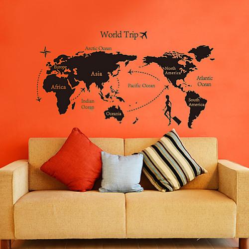 Наклейка на стену декоративная в стиле всемирного атласа Lightinthebox 773.000