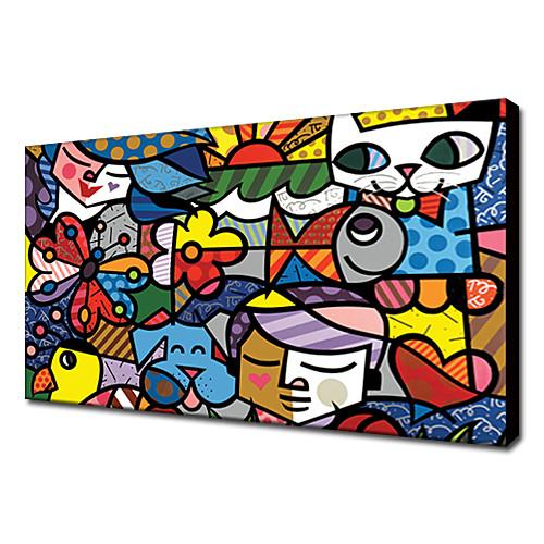 растянутый холсте поп искусства мультфильм Britto сад готовы повесить Lightinthebox 1288.000