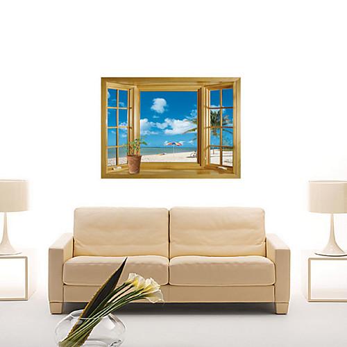 Съемный Новый 3D Вид на море оконная пленка стены стикеры Lightinthebox 858.000