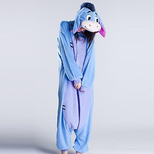 Тупые Donkey голубой флис взрослых Kigurumi пижамы Lightinthebox 1460.000