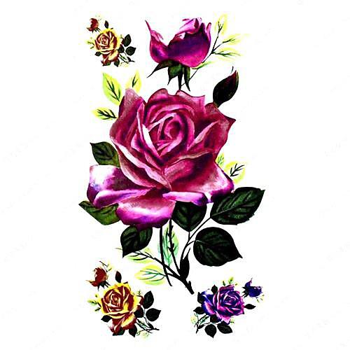 5 шт Rose Водонепроницаемый Временные татуировки (10.5cm  20.5cm) HM225 Lightinthebox 429.000
